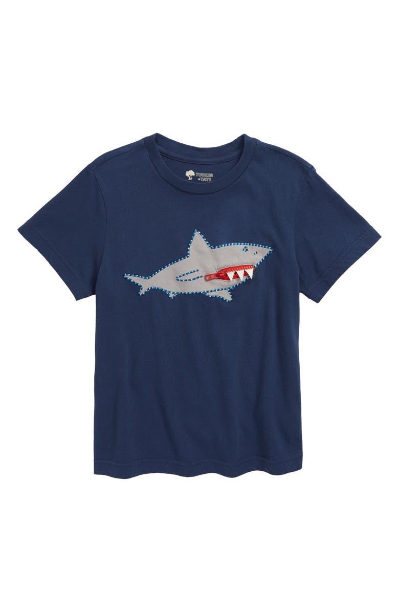 TUCKER + TATE 3D Graphic T-Shirt, Main, color, NAVY DENIM SHARK