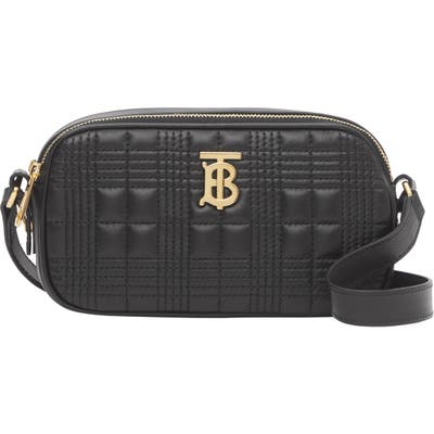 Burberry Micro Quilted Leather Camera Bag - Black