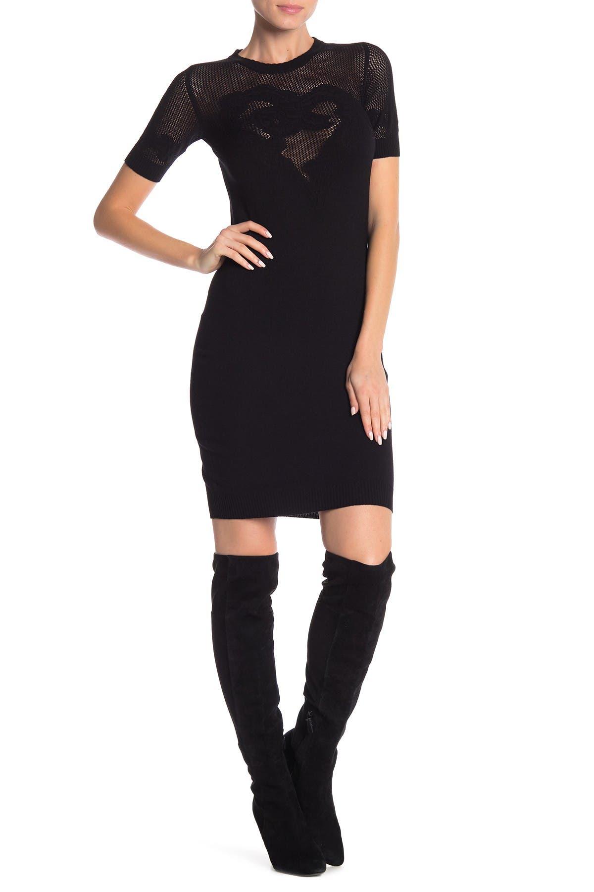 Image of LOVE Moschino Short Sleeve Knit Dress