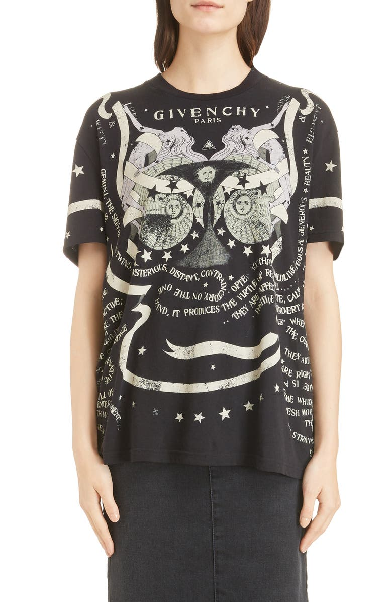 GIVENCHY Gemini Graphic Tee, Main, color, 001