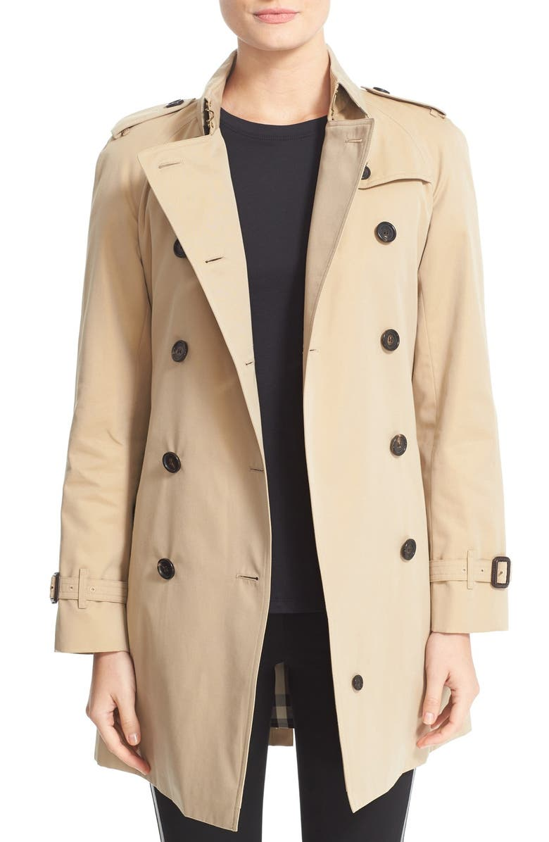 BURBERRY Westminster Double Breasted Trench Coat, Main, color, 260