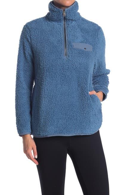 Image of Te Verde Faux Shearling Quarter Zip Pullover