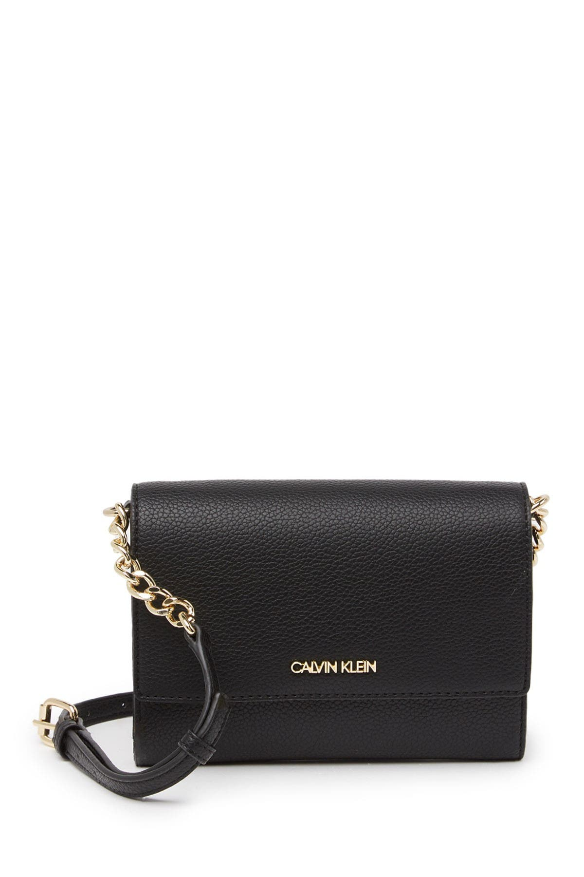 Image of Calvin Klein Leather Chain Wallet