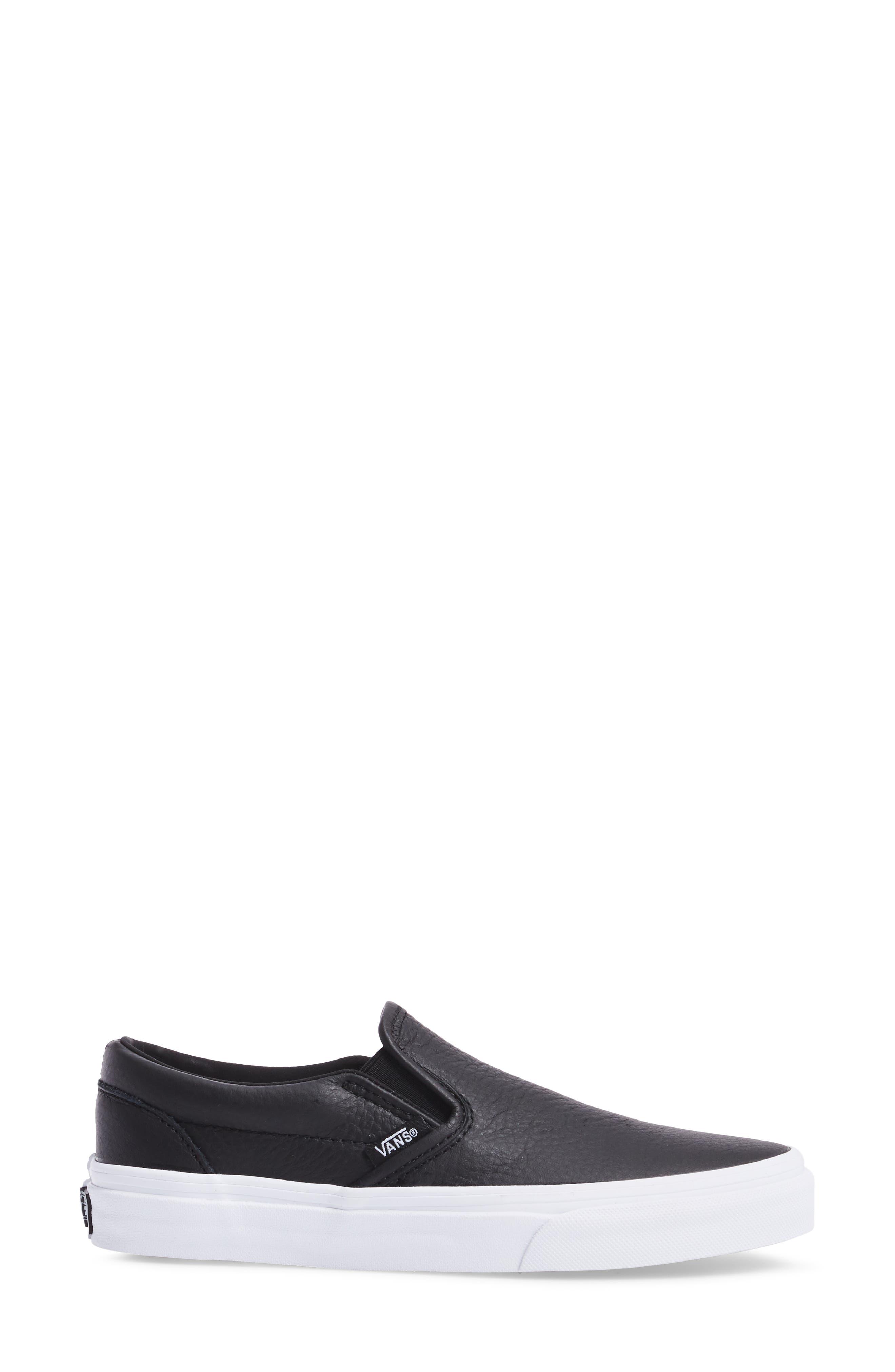 ,                             Classic Slip-On Sneaker,                             Alternate thumbnail 3, color,                             BLACK/ TRUE WHITE