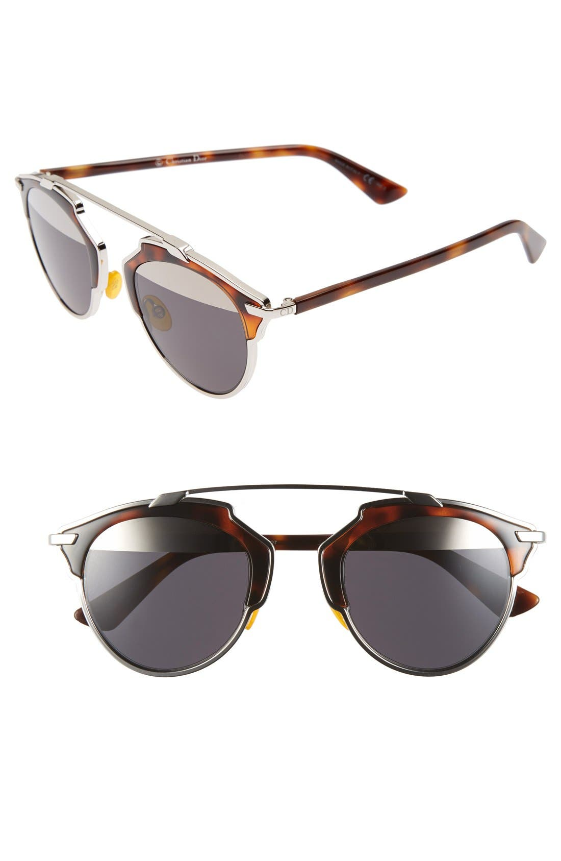 ,                             So Real 48mm Brow Bar Sunglasses,                             Main thumbnail 28, color,                             041