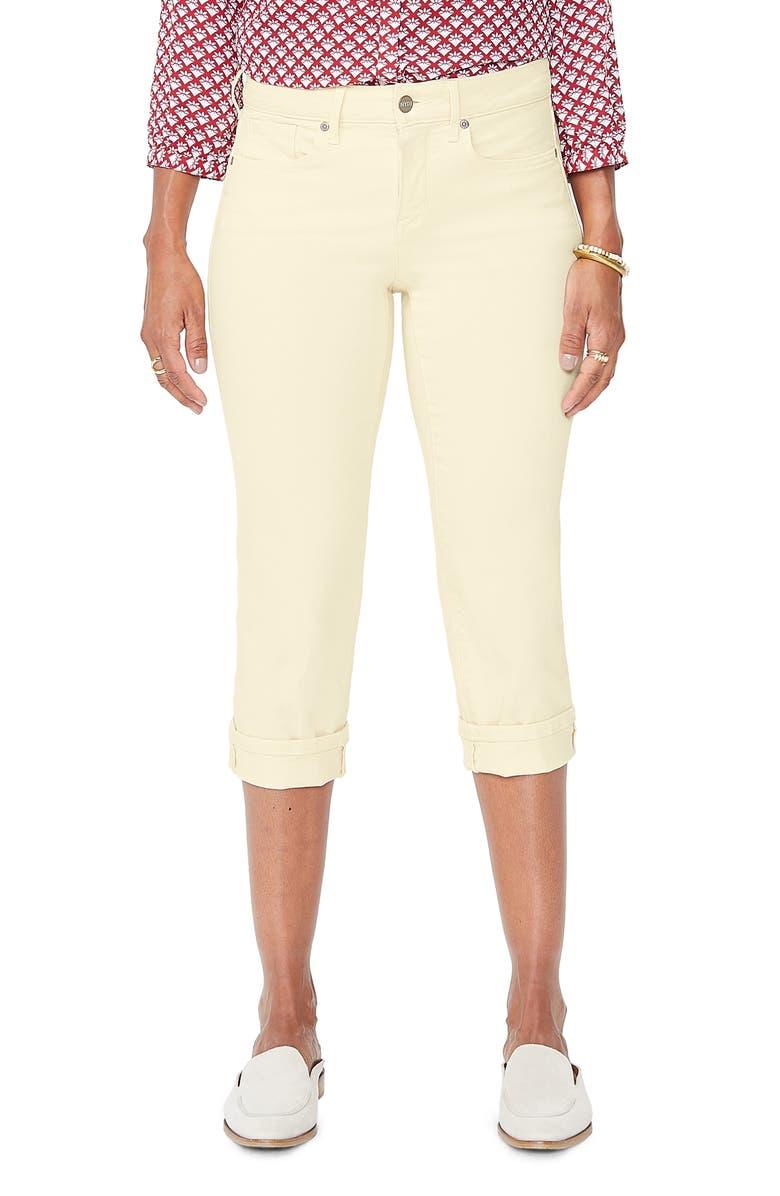 NYDJ Marilyn Straight Leg Capri Jeans, Main, color, MARIGOLD