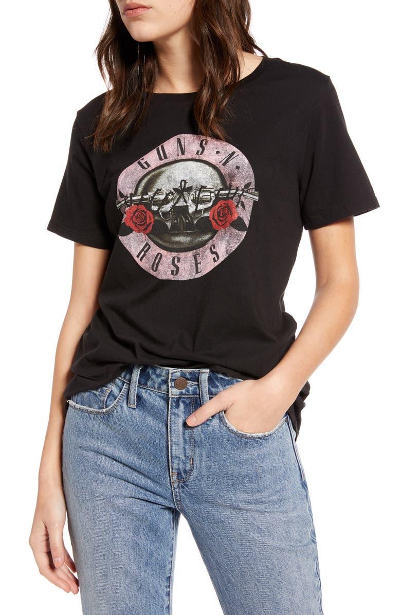 TREASURE & BOND Band Graphic Tee, Main, color, BLACK- GUNS AND ROSES