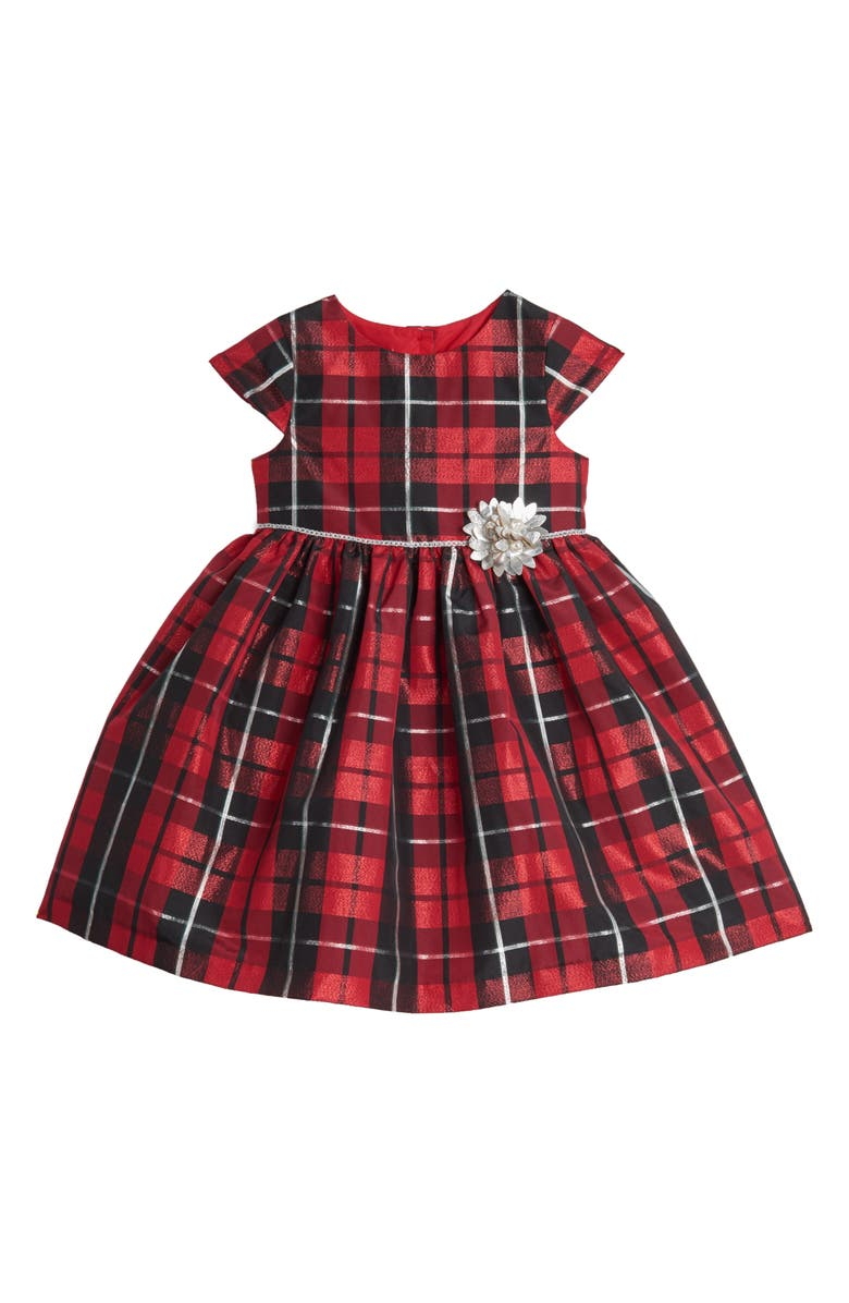 PIPPA & JULIE Plaid Party Dress, Main, color, 619