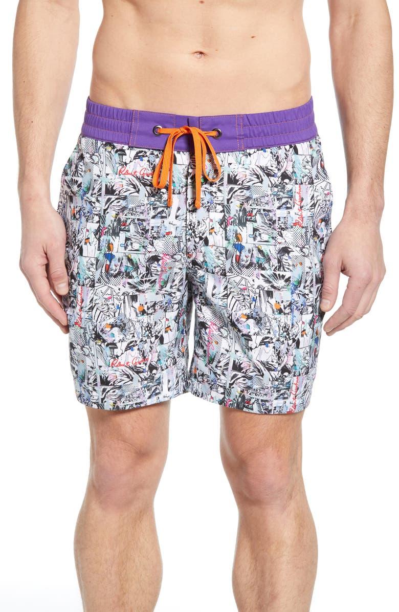 ROBERT GRAHAM Carras Board Shorts, Main, color, MULTI