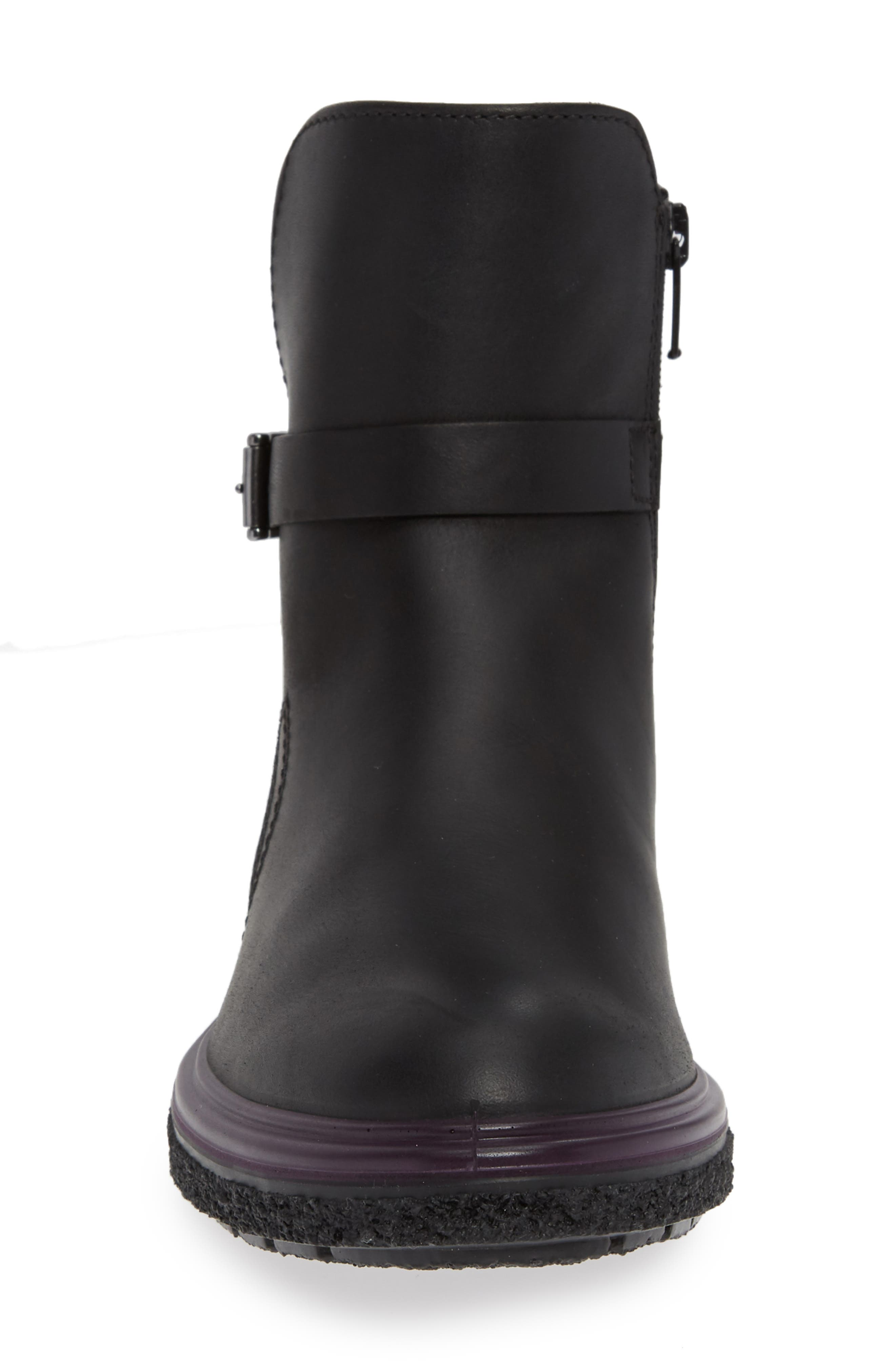 ,                             Crepetray GTX Waterproof Bootie,                             Alternate thumbnail 4, color,                             BLACK LEATHER