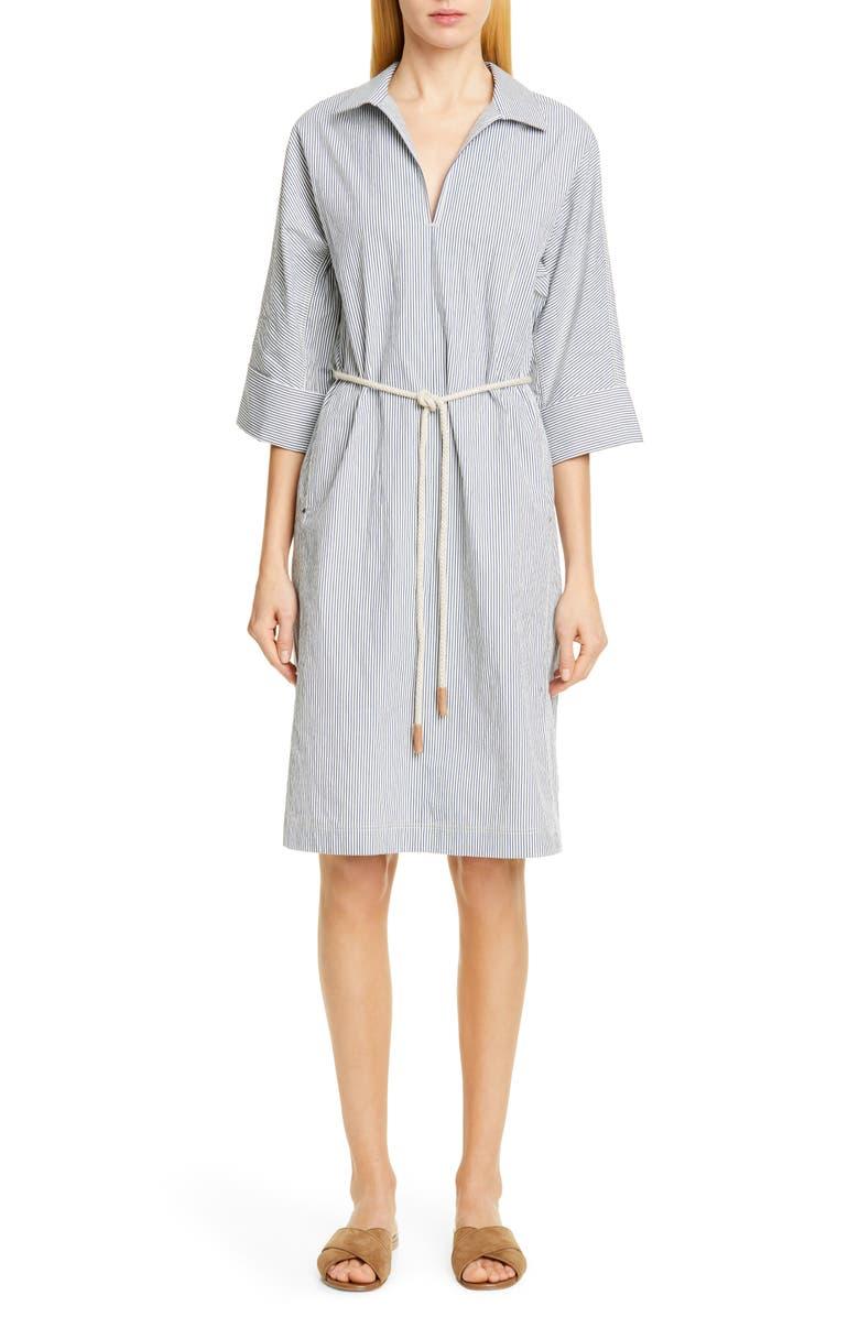 LAFAYETTE 148 NEW YORK Nicole Belted Midi Shirtdress, Main, color, 400