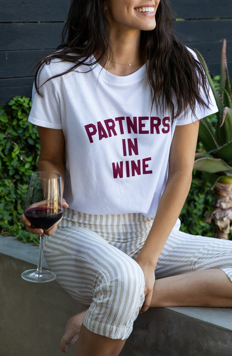 SUB_URBAN RIOT Partners in Wine Graphic Tee, Main, color, WHITE