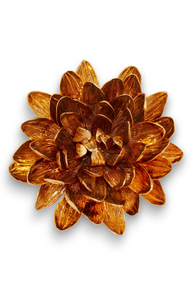 AERIN Gilded Porcelain Dahlia, Main, color, GOLD