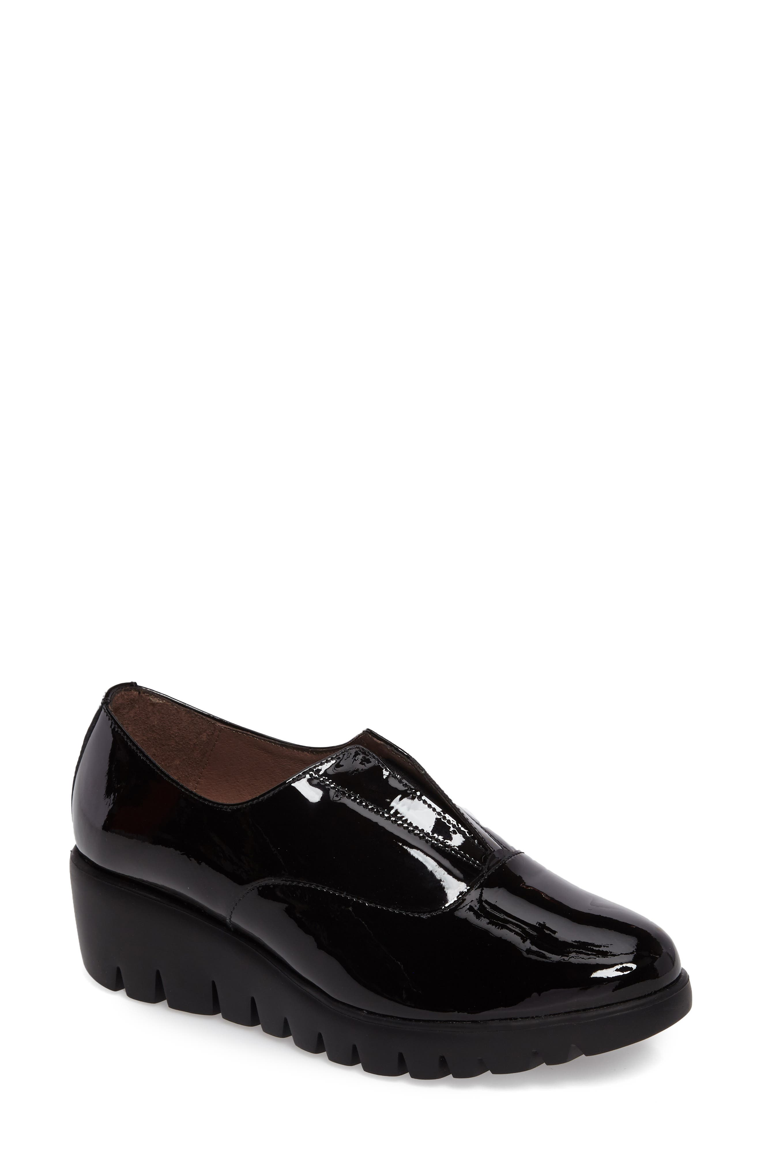 ,                             Platform Derby,                             Main thumbnail 1, color,                             BLACK PATENT LEATHER