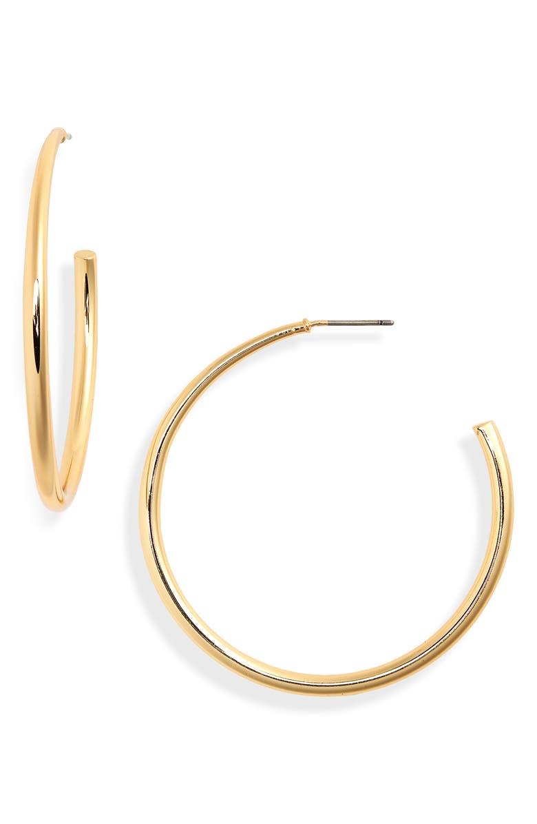UNCOMMON JAMES BY KRISTIN CAVALLARI Demonbreun Hoop Earrings, Main, color, GOLD