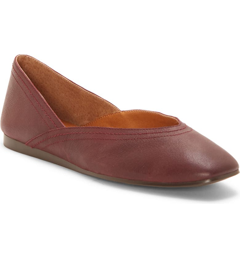 LUCKY BRAND Alba Skimmer, Main, color, SUGAR RED LEATHER