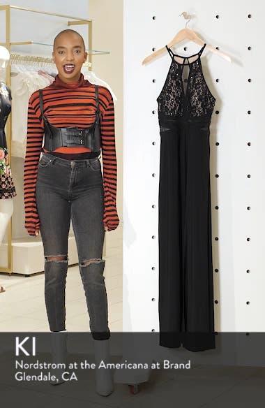 Lace & Mesh Inset Column Gown, sales video thumbnail