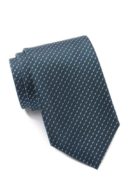 Image of Calvin Klein Silk Arrowhead Geo Tie