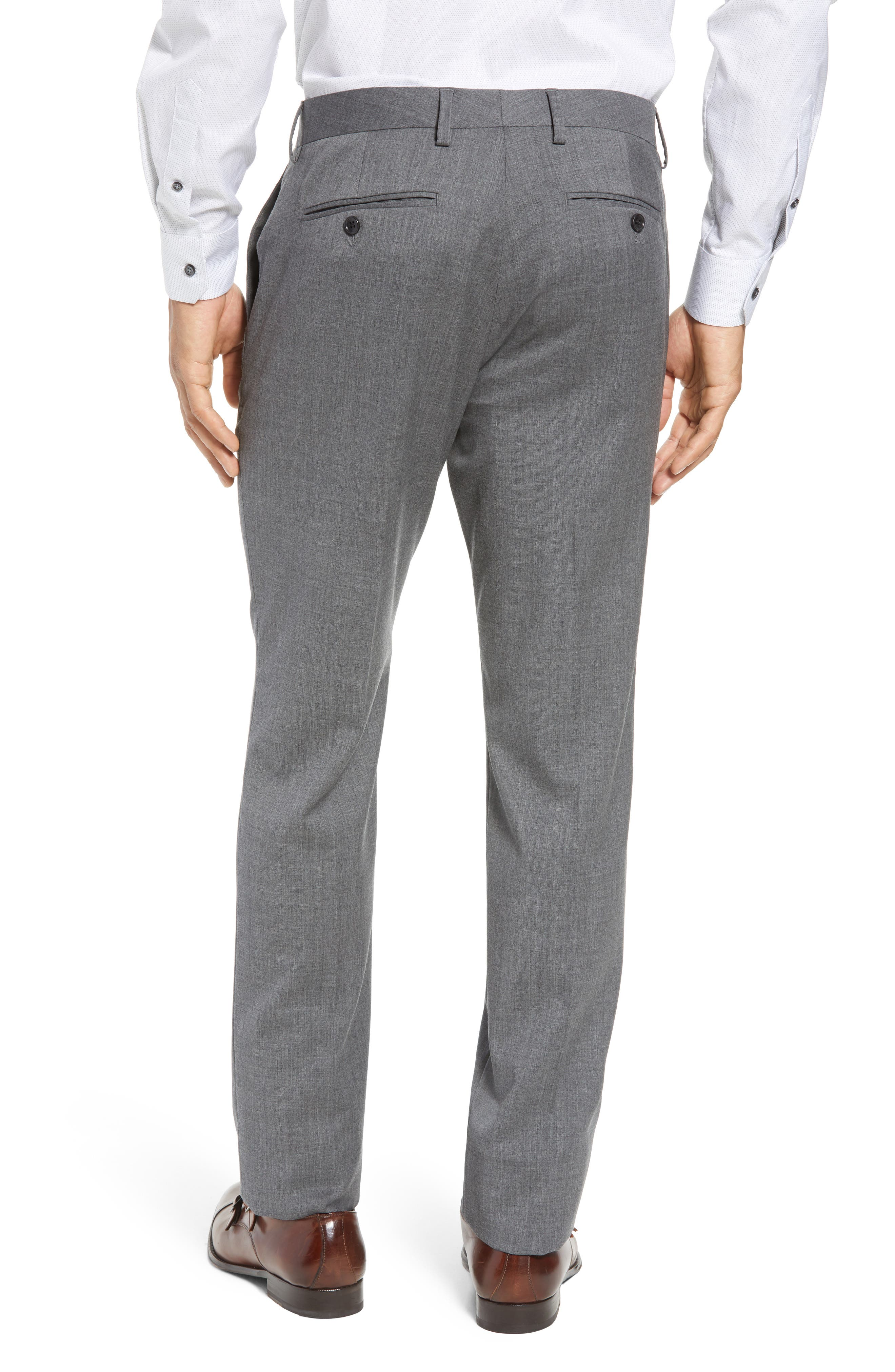 ,                             Jetsetter Slim Fit Flat Front Stretch Wool Trousers,                             Alternate thumbnail 21, color,                             050