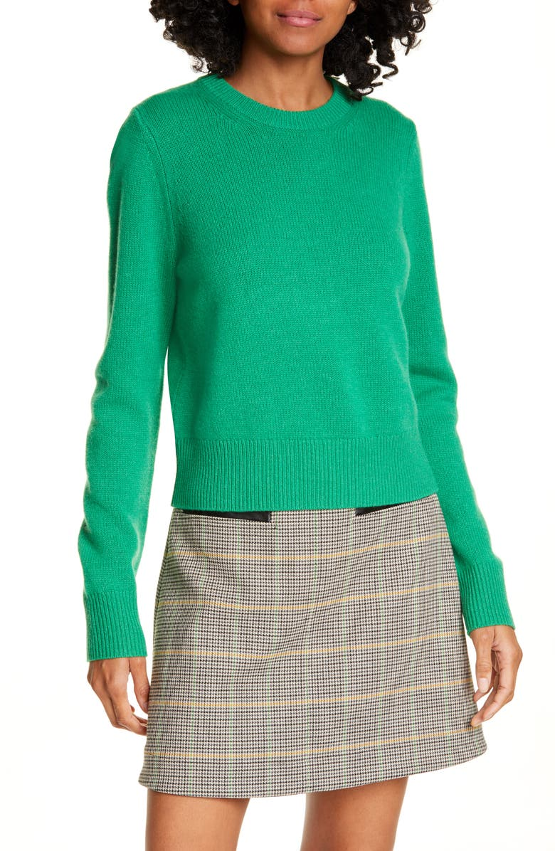 A.L.C. Wooster Wool Blend Sweater, Main, color, GREEN