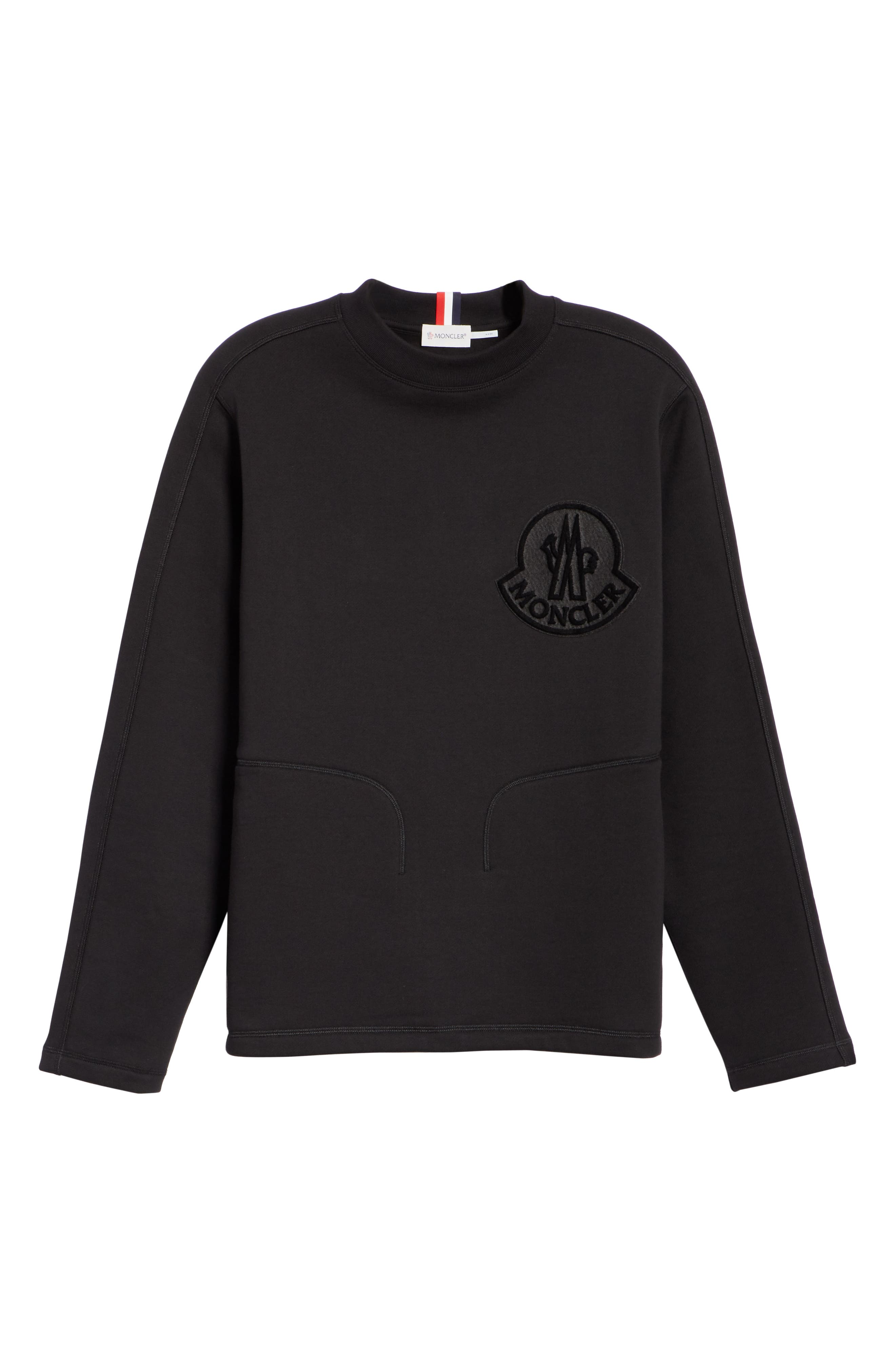 ,                             Maglia Crewneck Sweatshirt,                             Alternate thumbnail 6, color,                             BLACK