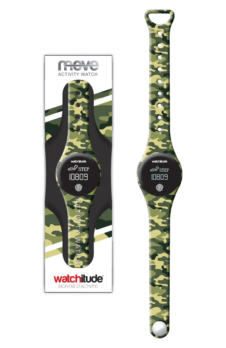 WATCHITUDE Camo Activity Watch, 39mm, Main, color, MULTI