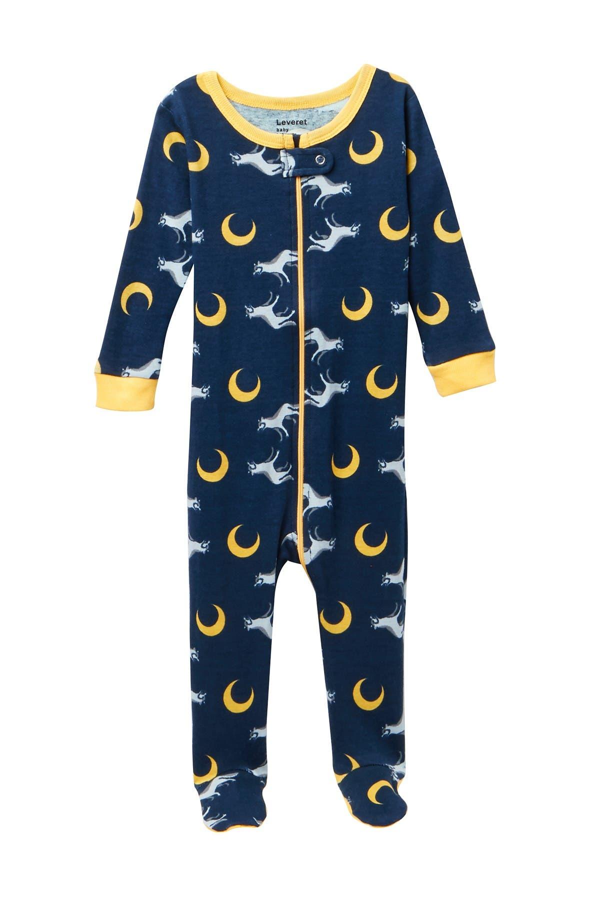 Image of Leveret Wolf Footed Pajama Sleeper