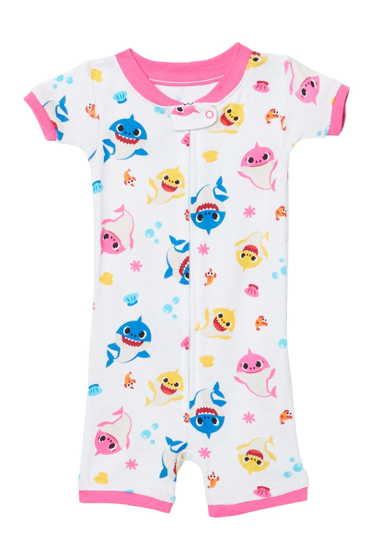 Image of AME Baby Shark Cotton Romper