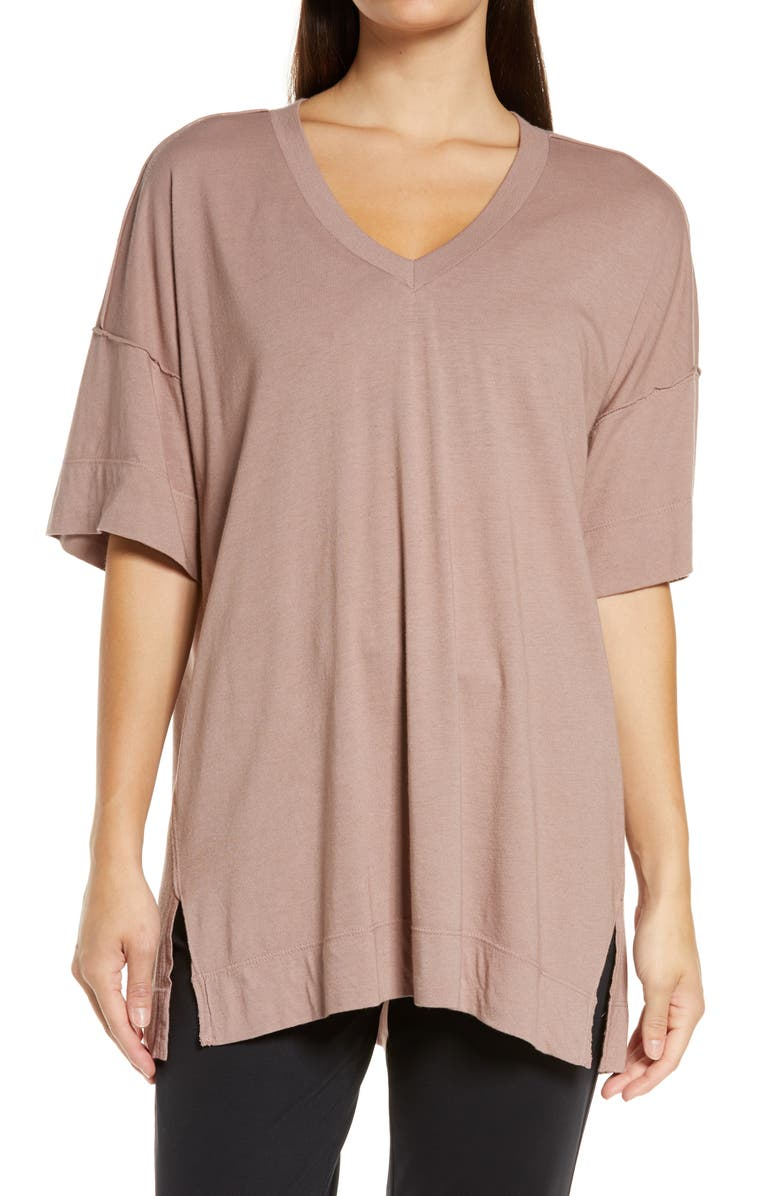 ZELLA All Day Oversize T-Shirt, Main, color, PURPLE MOON
