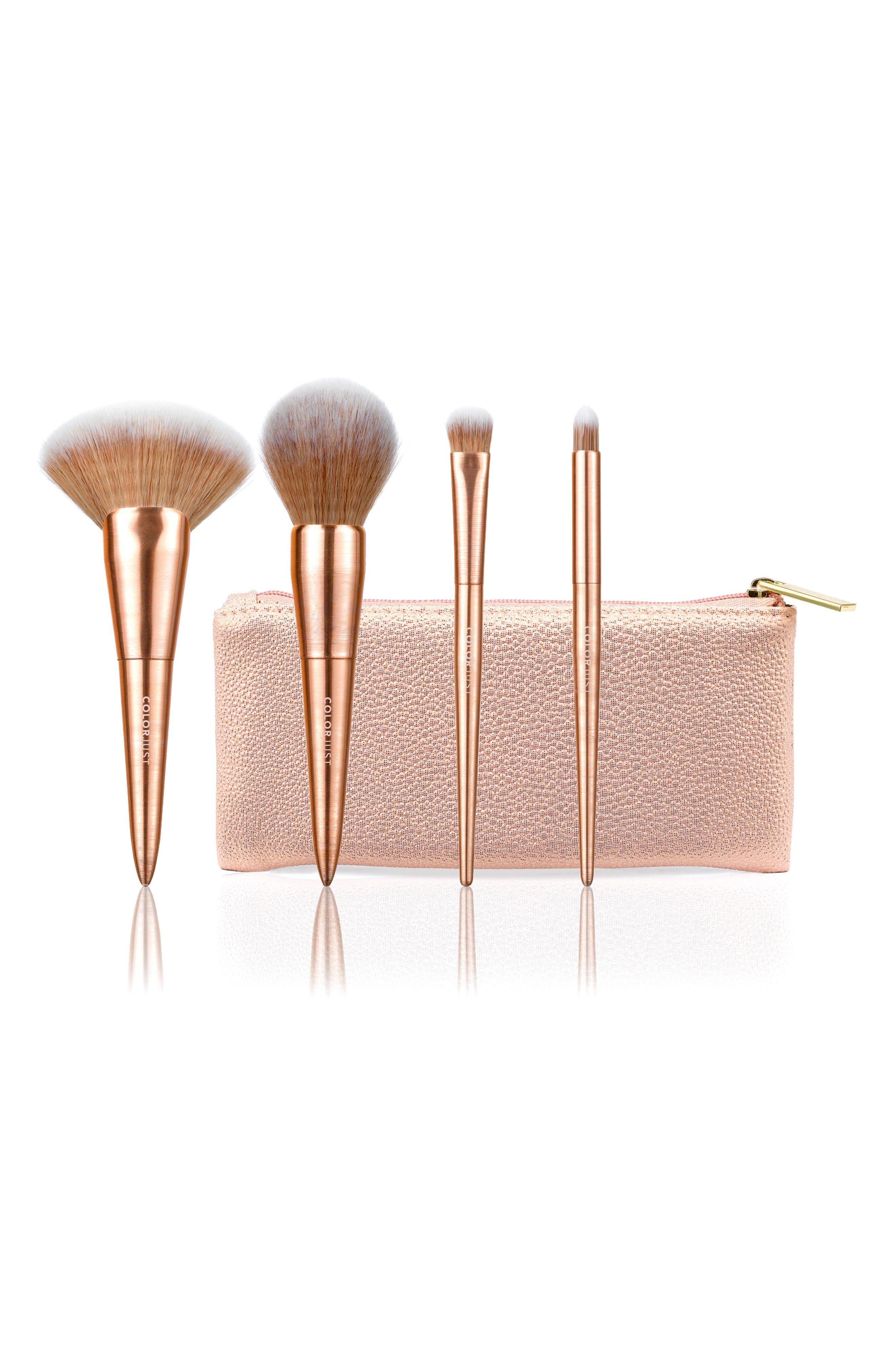 Rose Gold Brush Set, Main, color, NO COLOR