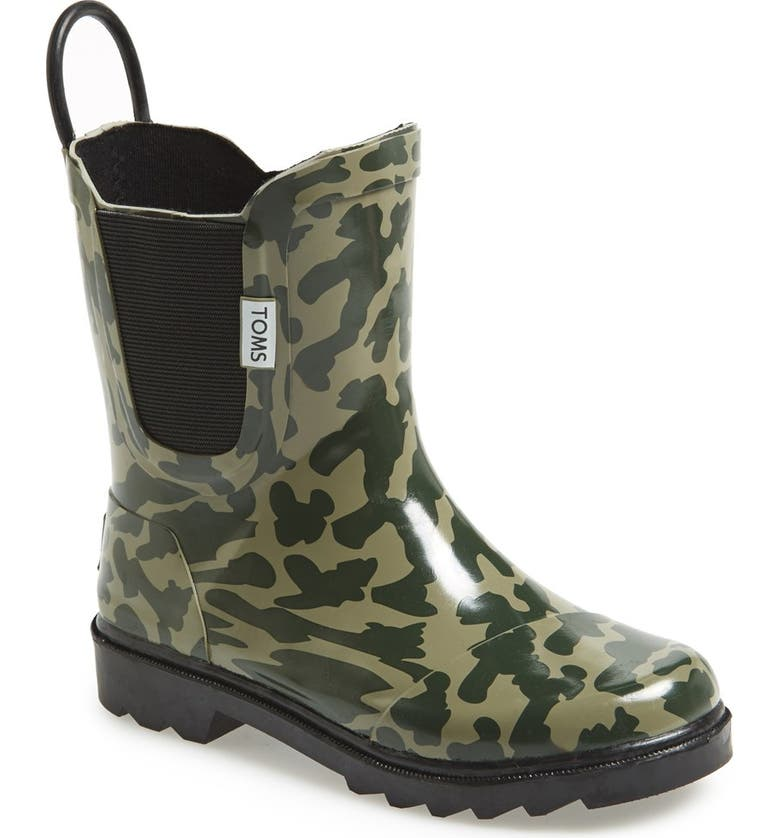 Toms Youth Camo Rain Boot Toddler Little Kid Big Kid Nordstrom