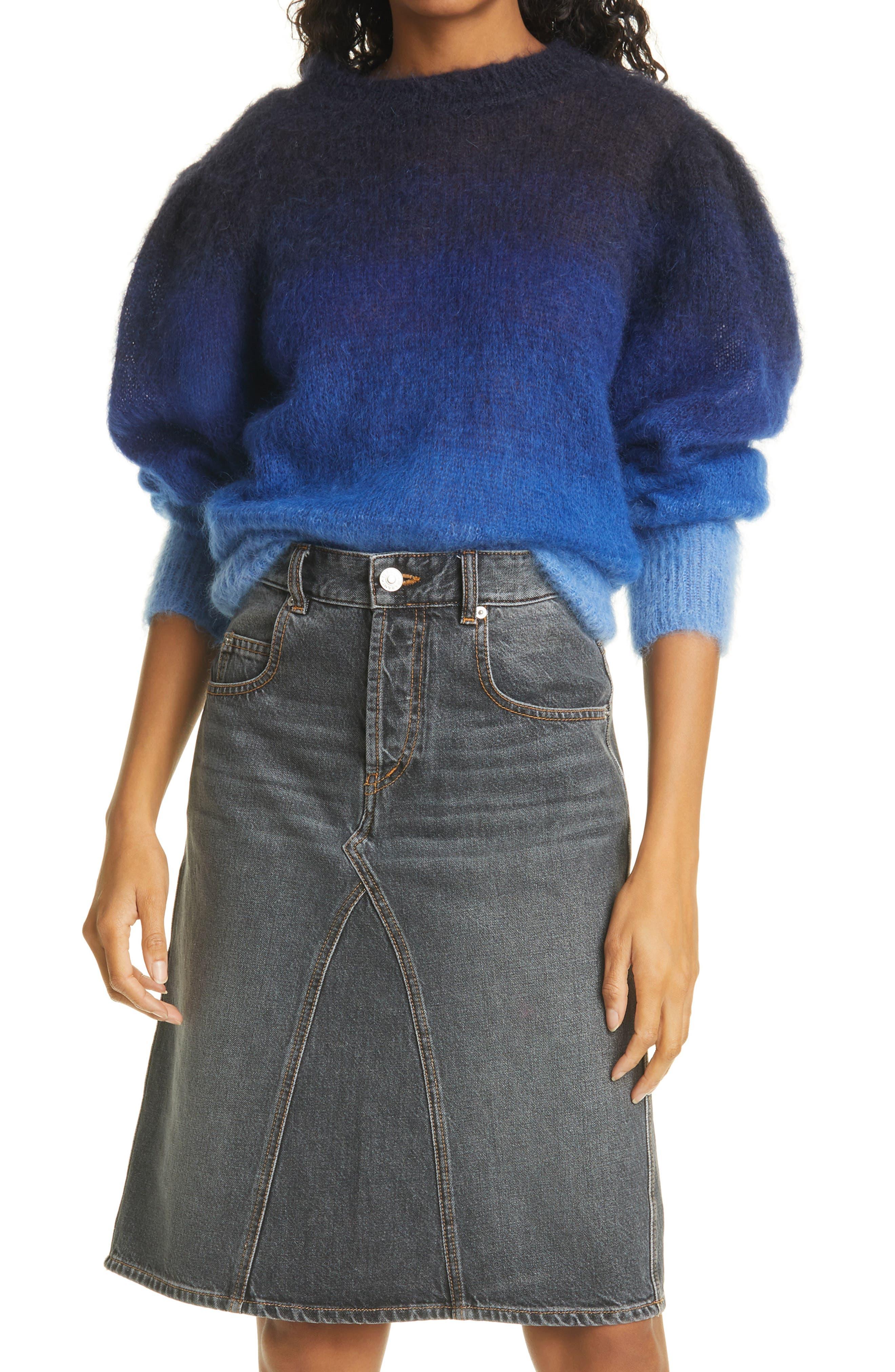 Women's Isabel Marant Etoile Deniza Colorblock Mohair & Wool Blend Sweater