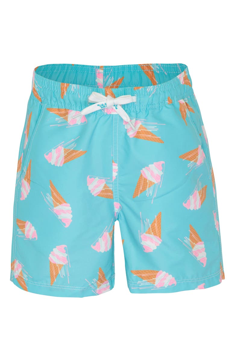 PLATYPUS AUSTRALIA Print Swim Trunks, Main, color, GELATO