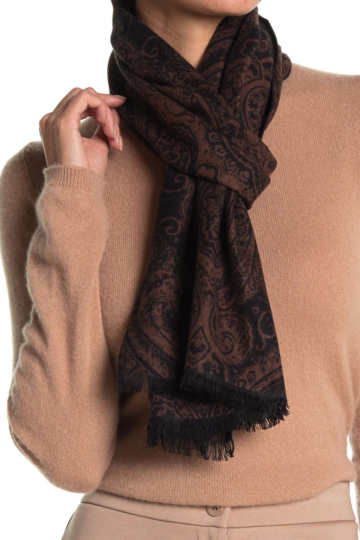 Image of Chelsey Imports Tapestry Paisley Silk Scarf
