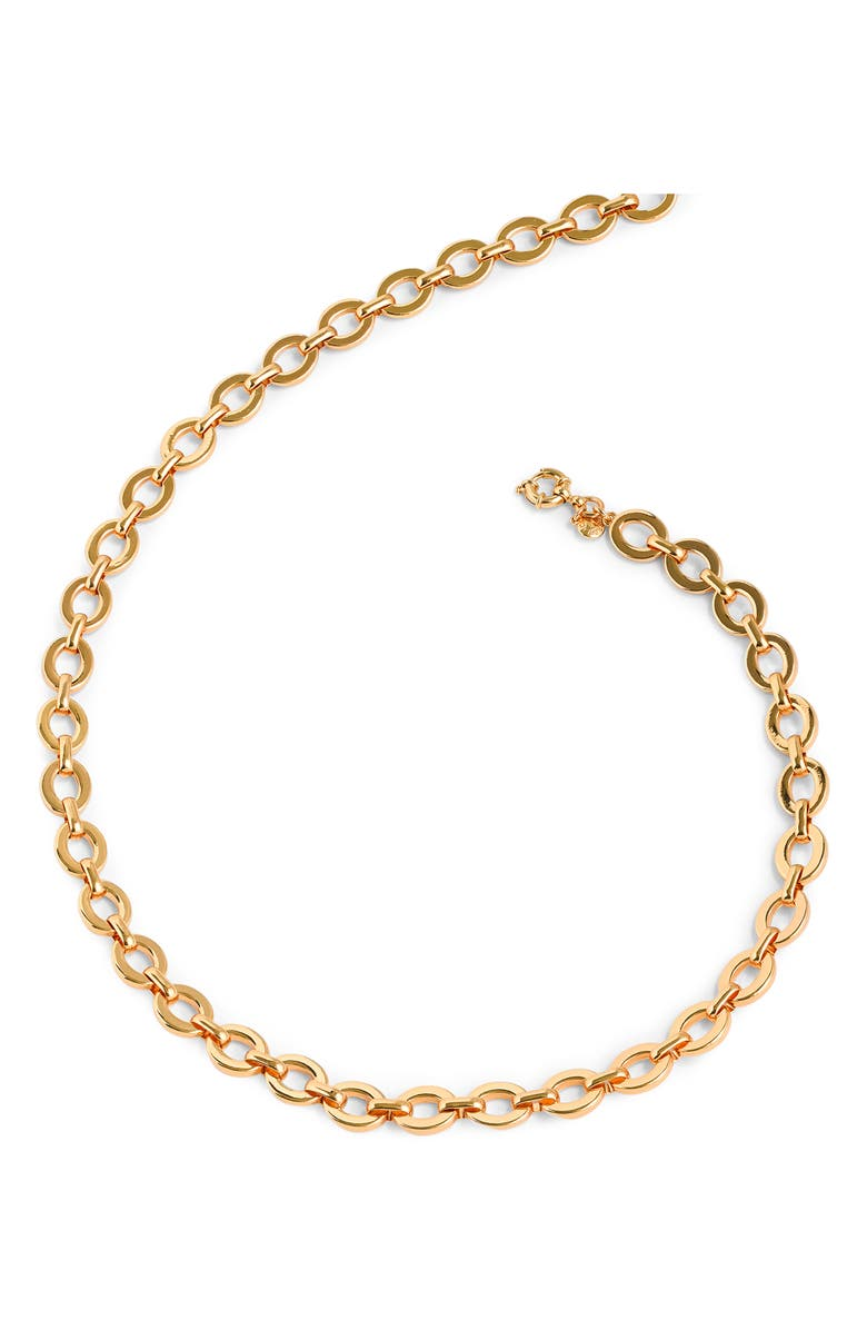 Matte Goldtone Oval Link Necklace by J.Crew