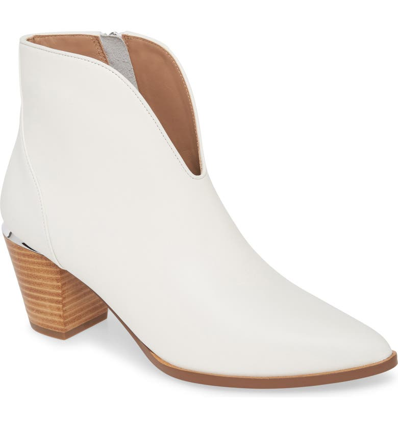 LINEA PAOLO Westly Bootie, Main, color, WHITE LEATHER