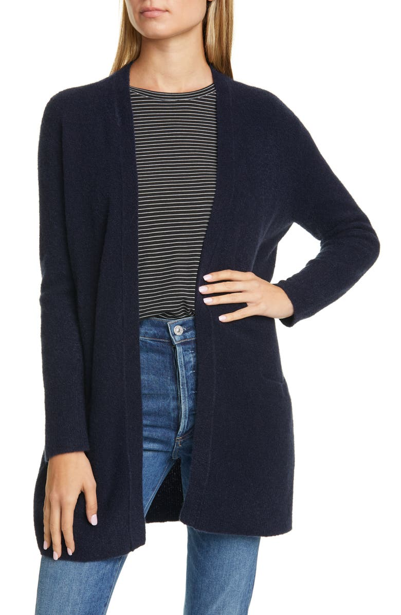 NORDSTROM SIGNATURE Cashmere Blend Cardigan, Main, color, NAVY NIGHT