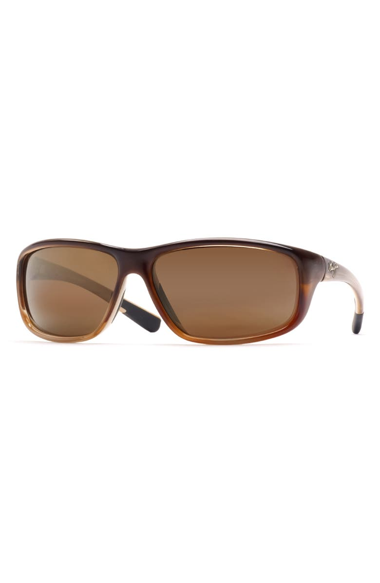 MAUI JIM 'Spartan Reef - PolarizedPlus<sup>®</sup>2' 64mm Sunglasses, Main, color, REDFISH