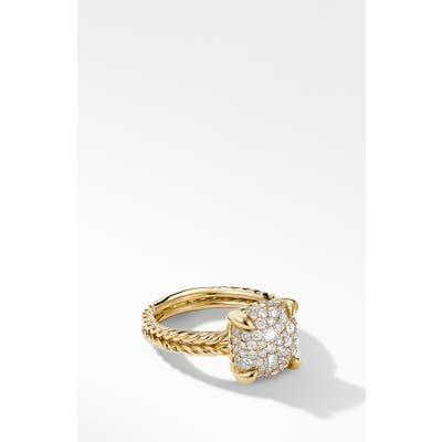 David Yurman Chatelaine 18K Gold & Full Pave Diamond Ring