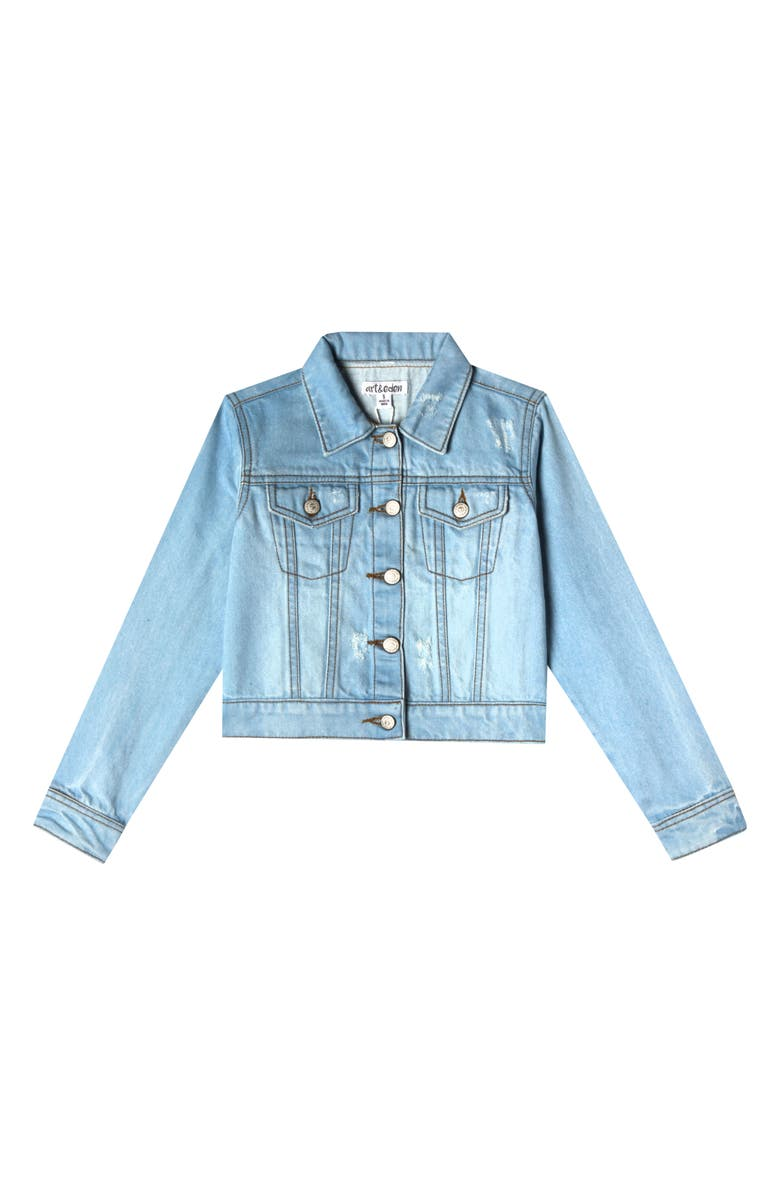 ART & EDEN Nalia Organic Cotton Denim Jacket, Main, color, 477