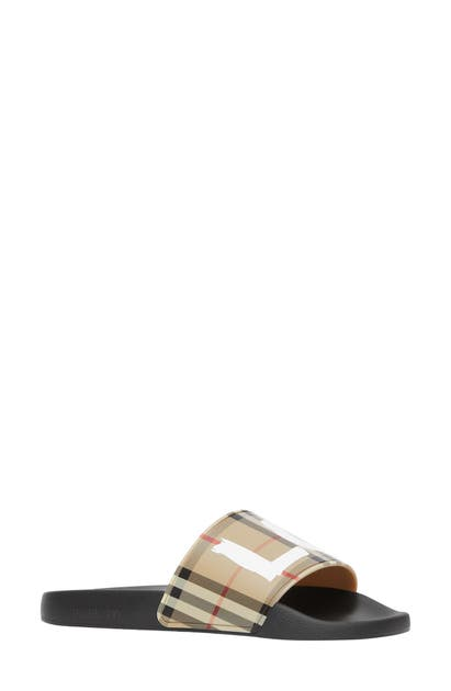 Burberry Shoes FURLEY LOVE CHECK SLIDE SANDAL
