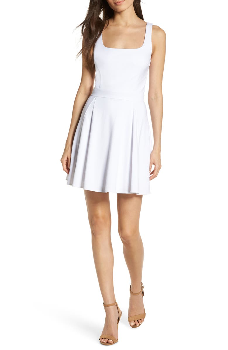 ALI & JAY Broadway Fit & Flare Minidress, Main, color, WHITE