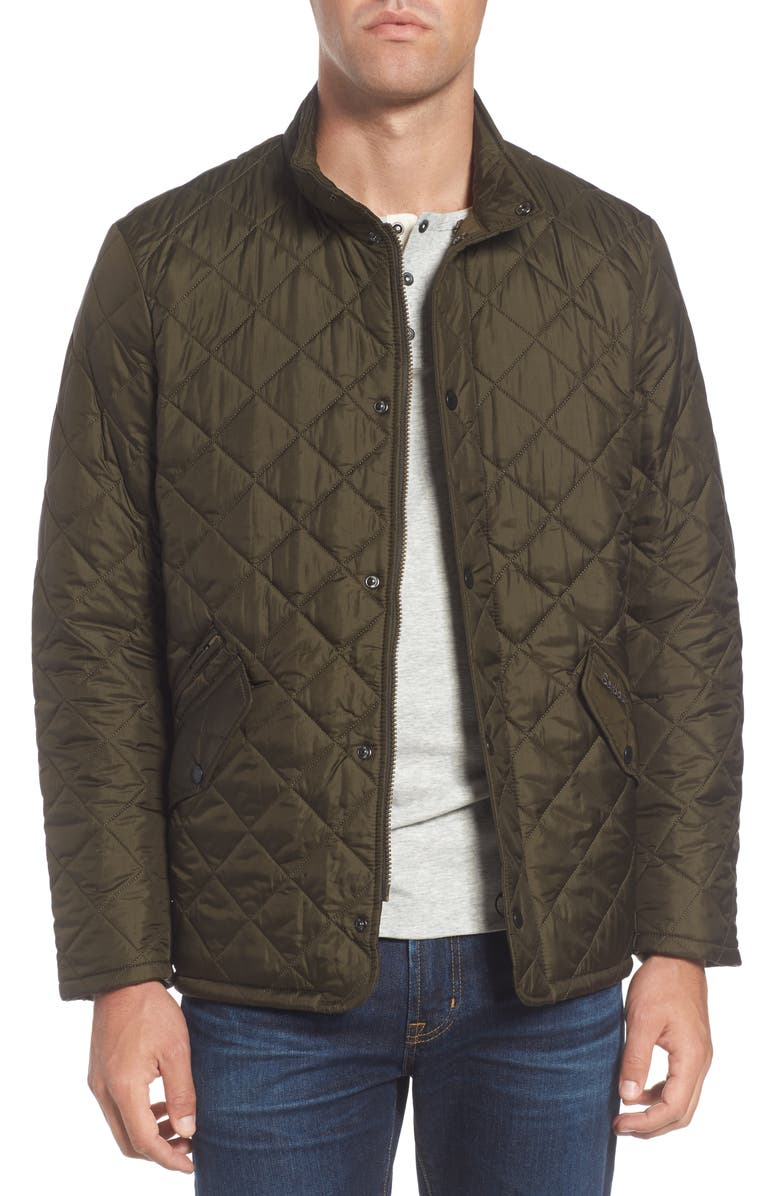 BARBOUR Flyweight Chelsea Quilted Jacket, Main, color, OLIVE