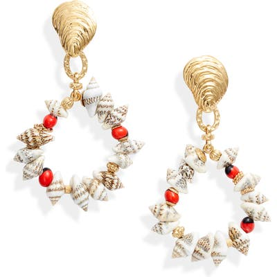 Gas Bijoux Costa Seashell Drop Earrings