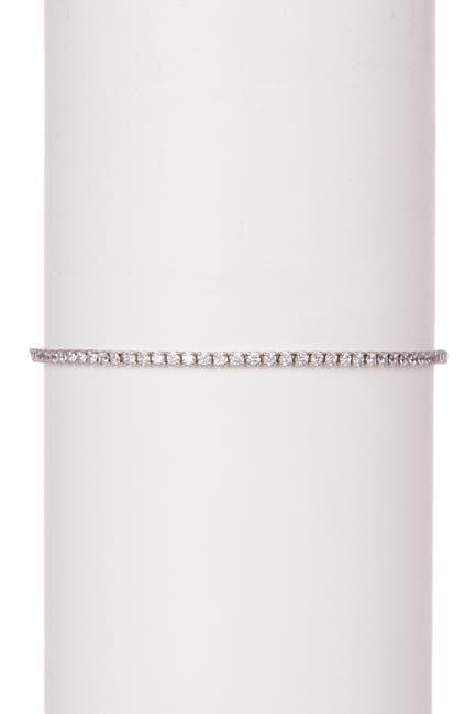 Image of Savvy Cie Sterling Silver CZ Pull Tennis Bracelet
