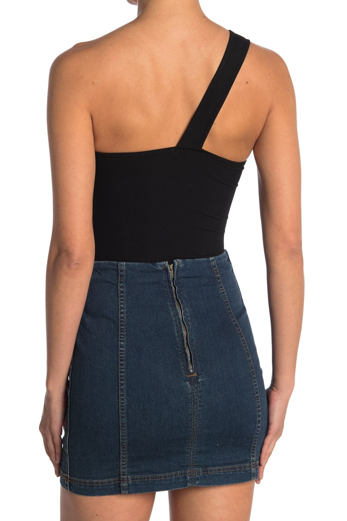Image of Elodie One-Shoulder Cutout Bodysuit