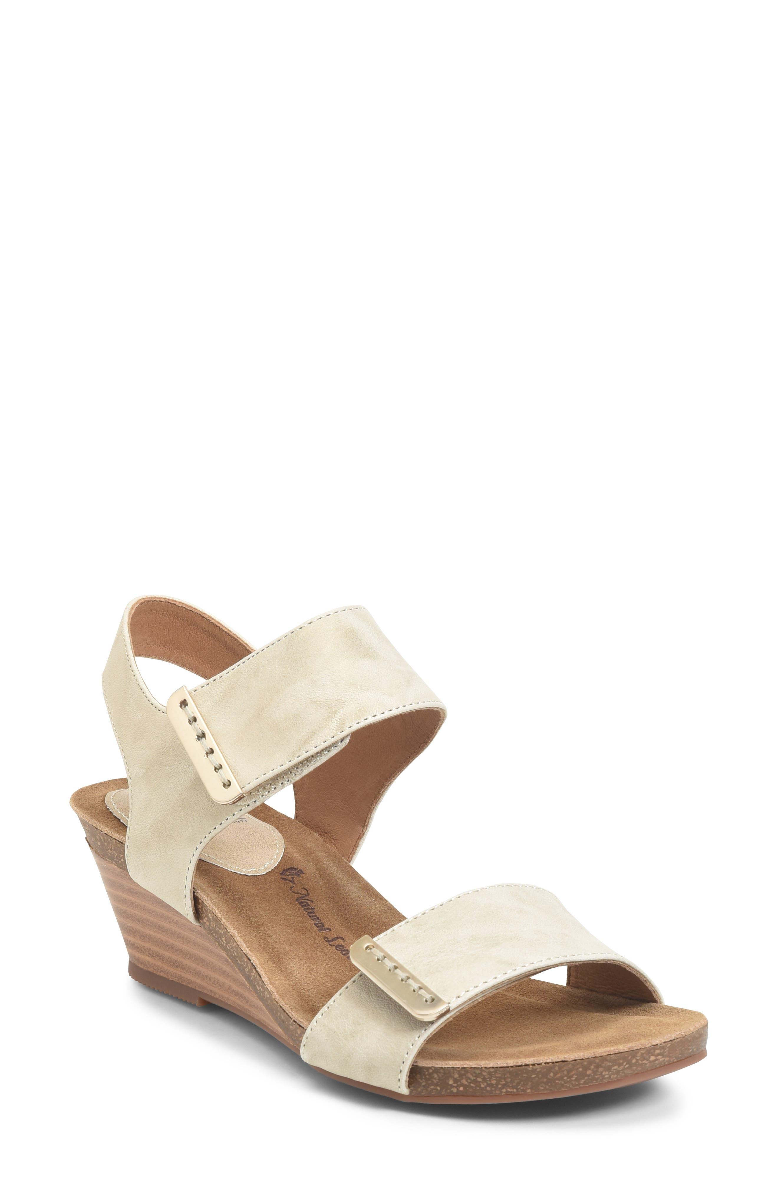 Verdi Wedge Sandal, Main, color, LIGHT GREY LEATHER