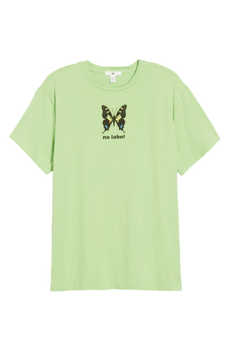 BP. Be Proud by BP. Gender Inclusive Graphic Tee, Main, color, GREEN BUTTERFLY