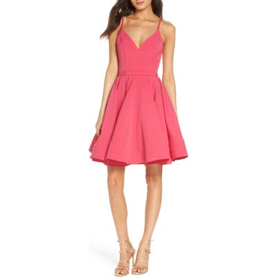 MAC Duggal Fit & Flare Party Dress, Pink
