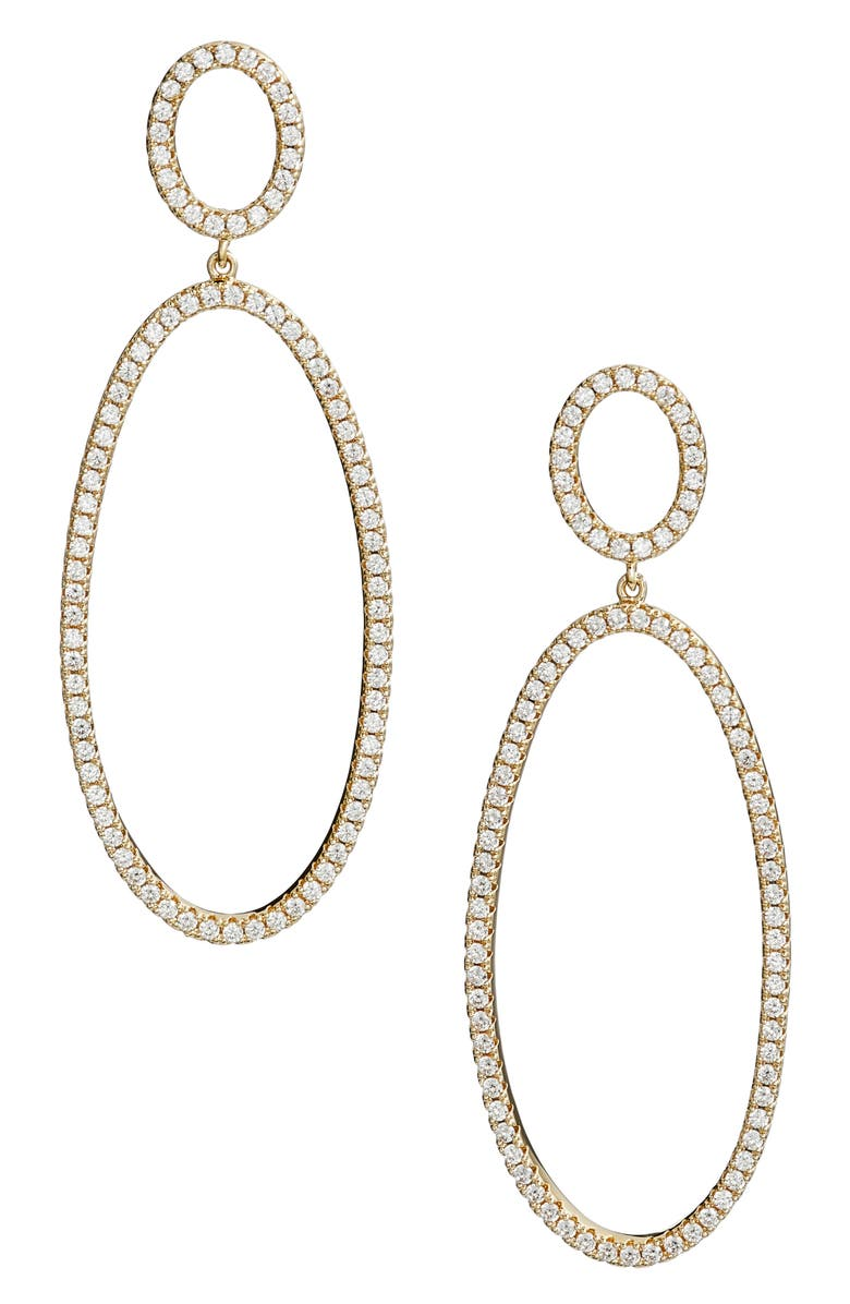 NORDSTROM Pavé Circle & Oval Drop Earrings, Main, color, 710